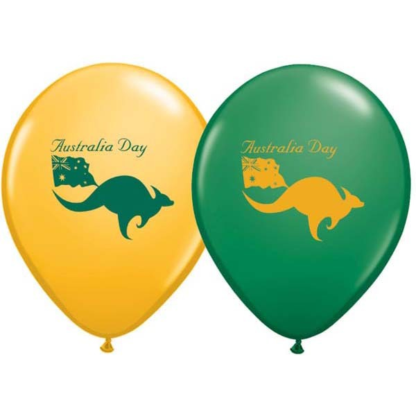 Australia Day Balloons Assorted - Singles or Packs - Helium Filled or Flat
