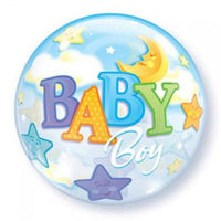 Baby Boy Balloon - Bubble Star & Moon