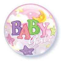 Baby Girl Balloon - Bubble Star & Moon