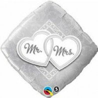 Mr & Mrs Foil Balloon Diamond Shape