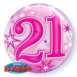 21st Balloon - Bubble Pink