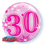 30th Balloon - Bubble Pink