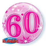 60th Balloon - Bubble Pink