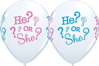 Gender Reveal Balloons - Singles or Packs - Helium Filled or Flat