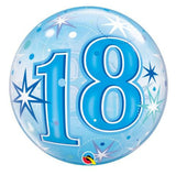 18th Balloon - Bubble Blue