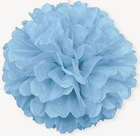 Tissue Paper Puff Ball - Light Blue