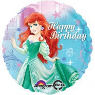 Little Mermaid Happy Birthday Foil Balloon