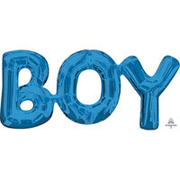 Word Boy Balloon - Boy - Air Fill Only (small)