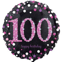 100th Birthday Balloon Pink / Bouquet