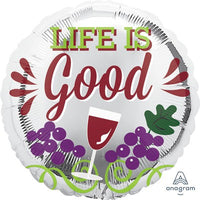 'Wine & Grapes Life is Good' Balloon / Bouquet