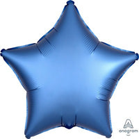 Star Balloon Blue Satin Foil