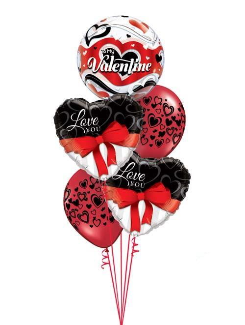 Valentines Day Bouquet - Black & Red