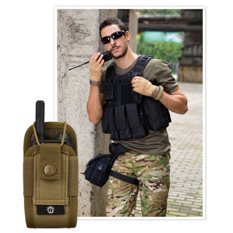Military Airsoft Tactical Molle Radio Pouch Walkie Talkie Wasit Bag Hunting Mag Packs