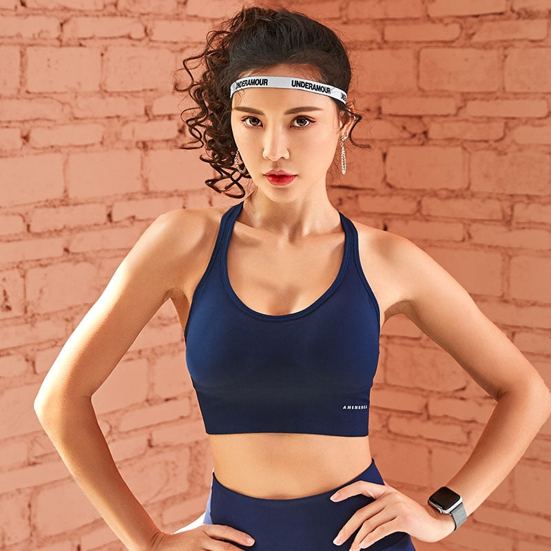 Women Push Up Seamless Sports Bra Workout Female Sport Top Crop Fitness Active Wear For Yoga Gym Brassiere Women's Sportswear