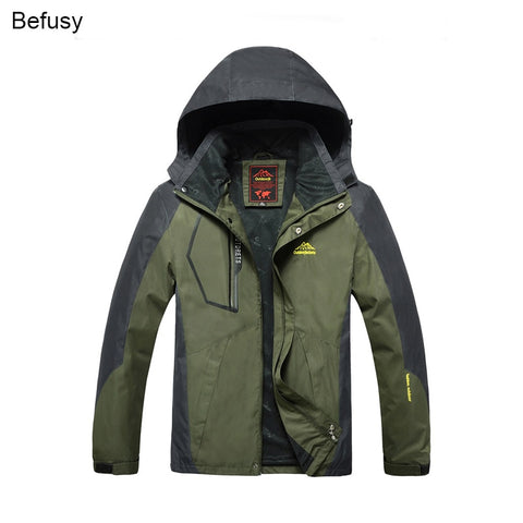 Befusy Spring Autumn Men Outdoor Waterproof Jackets Camping Hiking Jackets Hunting Climbing Wind Rain Fishing Sport Windbreaker