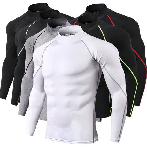 New Quick Dry Running Shirt Men Bodybuilding Sport T-shirt Long Sleeve Compression Top Gym t Shirt Men Fitness Tight rashgard