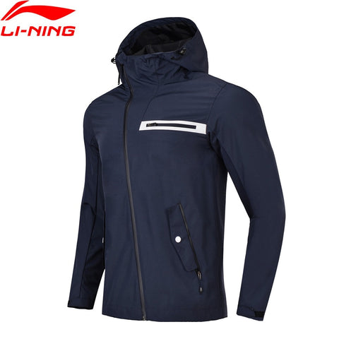 Li-Ning Men Outdoor Windbreaker Regular Fit 100% Polyester AT PROOF SMART Waterproof Coat LiNing Sports Jackets AFDN029 CJFM18