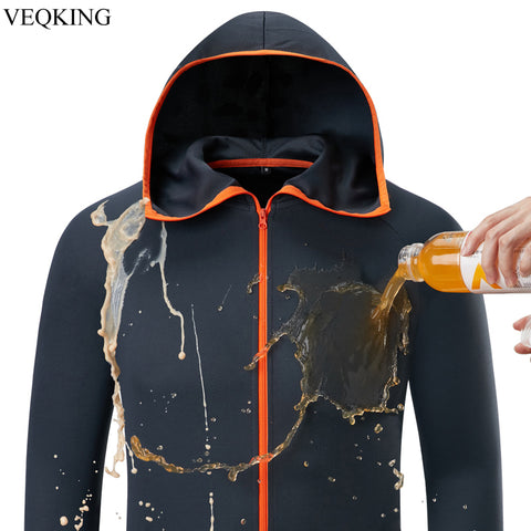 Water Repellent Ice Silk Men Hiking Jackets Hydrophobic Fishing Outdoor Clothing Quick Dry Anti-Fouling Camping Hunting Jacket
