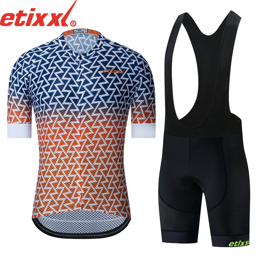 ETIXXL 2019 Pro Bib Cycling Set Summer Bicycle Clothing Sportswear MTB Bike Clothes Maillot Ciclismo Cycling Jersey Set