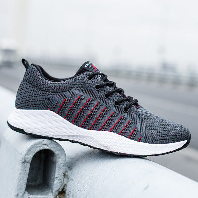 Sneakers Ulzzang Men Sports Travel Shoes Vogue Ventilation Running Shoes Wear Non Slip Allmatch Net Trend Men Shoes Fitness