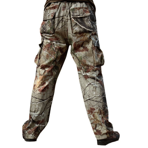 Quality Men's Camouflage Hunting Pants Tactical Combat Trousers Military Camo Hunting Clothing Camping Fishing Pants XS-4XL