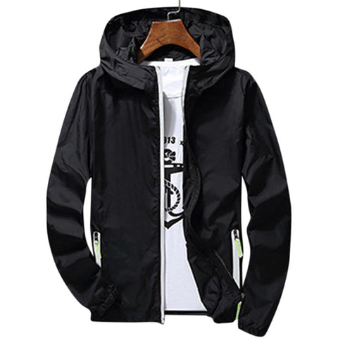 Men/Women Waterproof Windbreaker Jacket Summer Ultrathin Hoodie Casual Sports Outwear Coat Long Sleeve Zipper Sunscreen Jackets