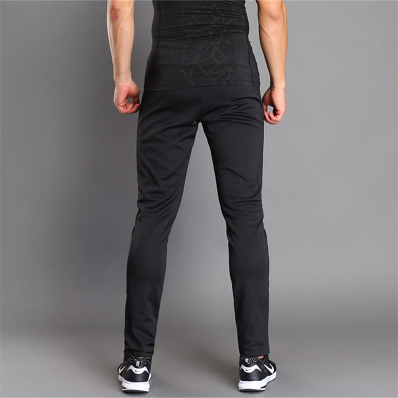 Breathable Jogging Pants Men Fitness Joggers Running Pants With Zip Pocket Training Sport Pants For Running Tennis Soccer Play