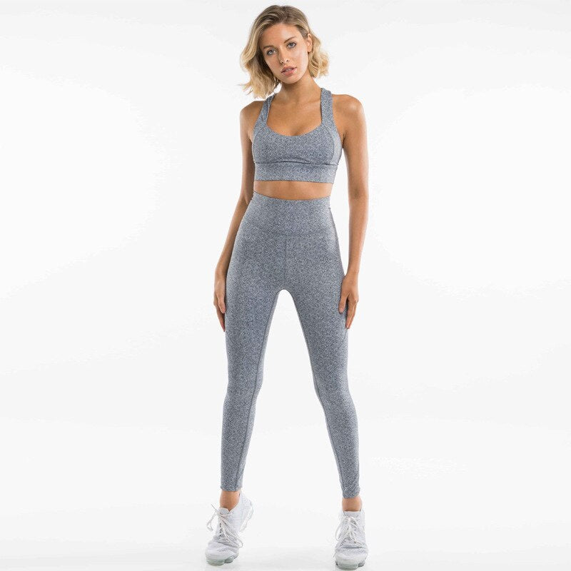 Women Sport Suit Female Yoga Set Tracksuit Fitness Sexy Ensemble Sportswear Workout Gym Wear Running Clothes Pad Top Leggings