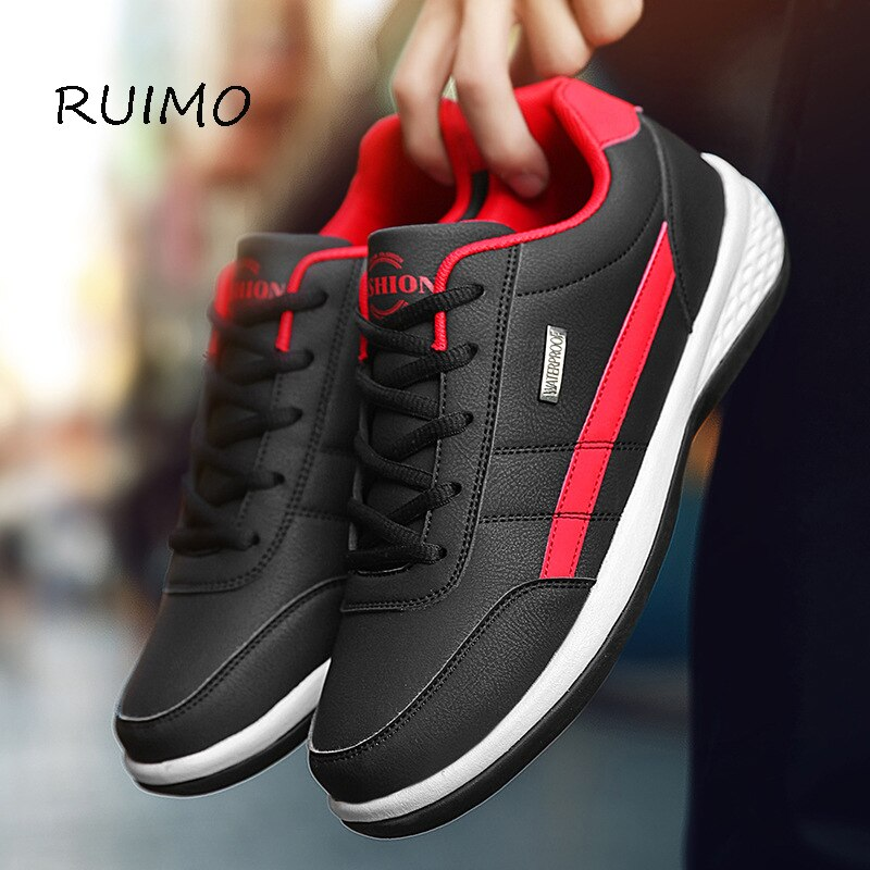 Sneakers Running Shoes Sports Men Shoes Rubber Sole Low Upper Antiskid Wear-resistant Ventilation Deodorant Free Sock Lace-up