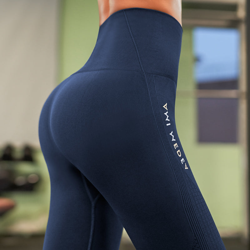 2019 Stretchy Gym Tights Sexy Push Up Tummy Control Yoga Pant High Waist Sport Legging Fitness Running Capri Pant Women
