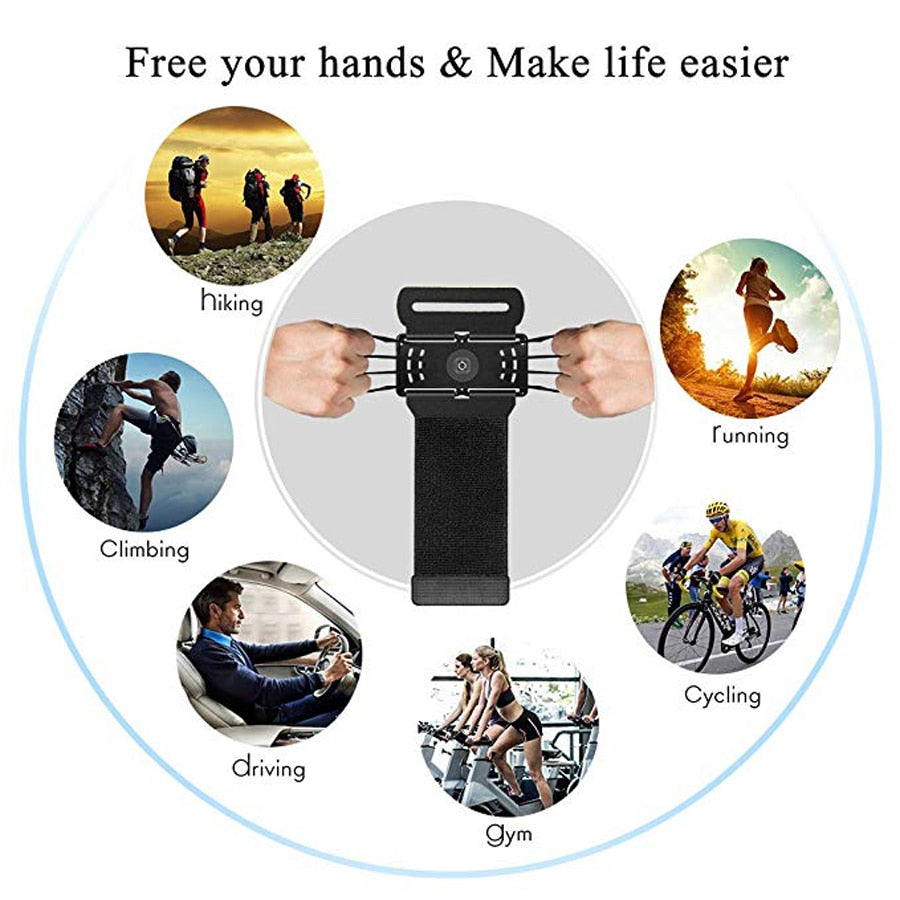 4-6in Running Bag Phone Armband Running Pouch Strap Jogging Sport Gym Arm Band Belt cuff telephone for fitness accessories 6.5in
