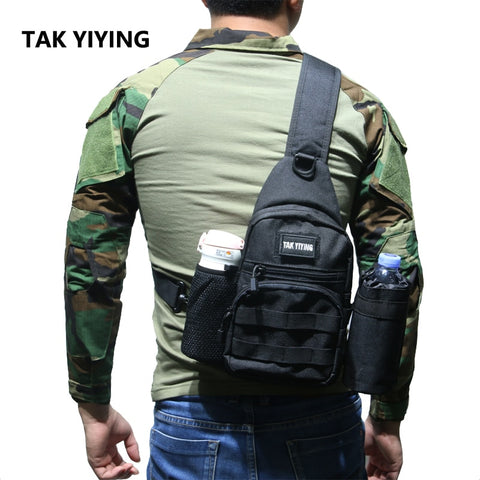 TAK YIYING Tactical bag Molle Fishing Hiking Hunting Bags Sports Bag Chest Single Shoulder Tactical Backpack