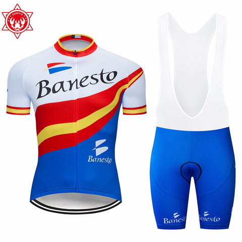 Summer Bicycle Clothing Maillot Ropa Ciclismo MTB Bike Clothing Sportswear Suit Cycling 2019 Banesto cycling jersey Set