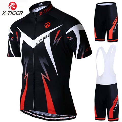 X-TIGER 2019 Cycling Jersey set Road Mountain Bike Cycling Clothing set MTB Bicycle Sportswear Suit Cycling Clothes Set For Mans