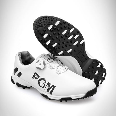 New Arrival 2019 Golf Shoes PGM Men's Sports Shoes Waterproof Anti-skid Sport Sneaker Male Knobs Buckle Shoelace Golf Shoes Men