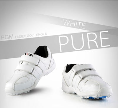 Ladies Leather Shoes Waterproof Women Shoes Golf flat Shoes Sports With Gril Sneaker Shoes Waterproof Breathable Caddy