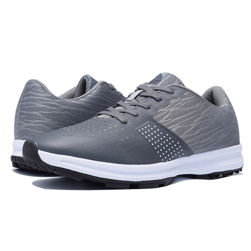 Thestron Men Golf Shoes Comfortable Breathable Men's Waterproof Golf Training Sneakers Black Gray Anti Slip Outdoor Sport Shoes