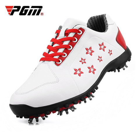 PGM 2019 Korean Women Golf Shoes Women's Leisure Section Fixed Nail Waterproof Non-slip Printing Girls Sports Shoes