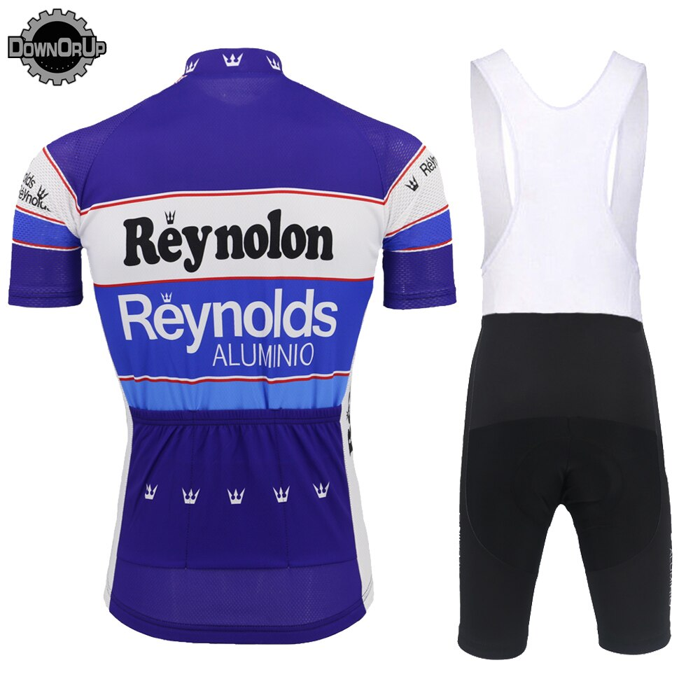 Retro short sleeve jersey set pro team bike wear jersey set bib shorts breathable 9D gel Pad  cycling clothing MTB ropa Ciclismo