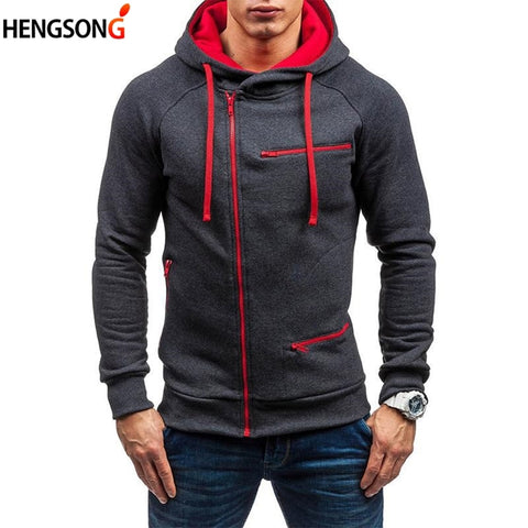 Autumn Outdoor Fleece Sportswear Running Jacket Cardigans Men Slim Hooded Sweatshirt Long Sleeve Zip Outerwear Coat golf jacket
