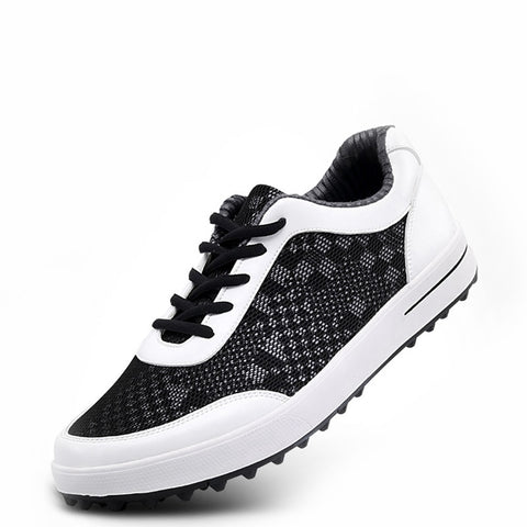 PGM Men Golf Shoes Lightweight Breathable Air Mesh Golf Shoes Men Anti-slip Outdoor Sneakers Men Sport Golf Shoes