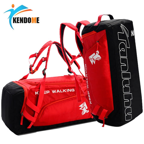 Hot Big Capacity Outdoor Training Gym Bag Waterproof Sports Bag Fitness Bag Men Women Multifunction Shoulder Travel Yoga Handbag