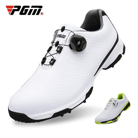 2019 New Arrival PGM Golf Shoes Men Sports Shoes Waterproof Knobs Buckle Breathable Anti-slip Mens Training Sneakers XZ095