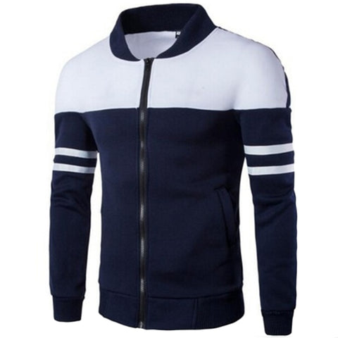 HENGSONG 2018 Spring Autumn Men Golf Jackets Coat Striped Patchwork Slim Fit Jacket For Men Male Man Sport Jacket Sportwear