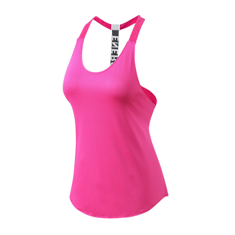 2019 Women's Sportswear Gym Tshirt Yoga Top Vest Sleeveless Running Shirt Dry Fit Running Workout Clothes Fitness Sexy Tank tops