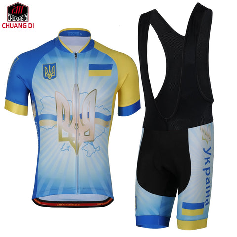Ukraine Flag Cycling Jersey for Men and Women Mountain Bicycle Bike Clothing Sportswear Sport Jerseys Cycling Set National flag