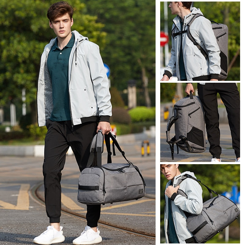 15 inch Gym Bag Multifunction Men Sports Bags Woman Fitness Bags Laptop Backpacks Hand Travel Storage Bag With Shoes Pocket Yoga