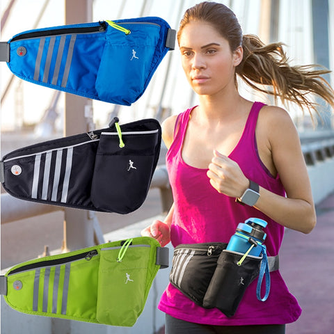 Sports Bag Running Waist Bag Pocket Jogging Portable Waterproof Cycling Bag Outdoor Phone anti-theft Pack Belt Bags Water bottle