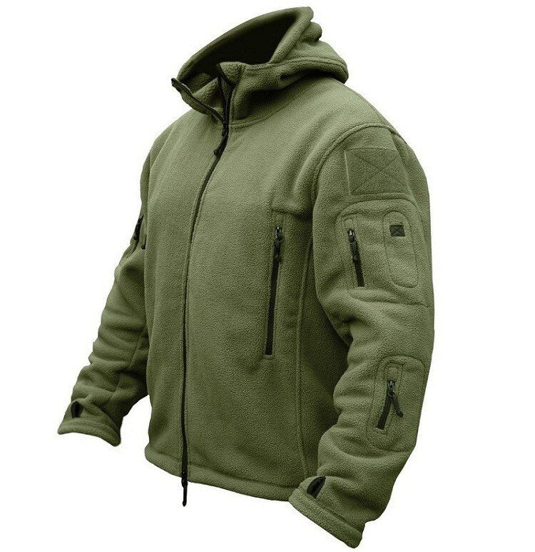 US Military Fleece Tactical Jacket Men Thermal Outdoor Polartec Warm Hooded Coat Militar Softshell Hiking Outerwear Army Jackets