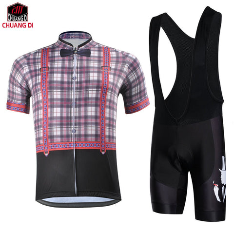ZM Retro gentleman Cycling Jersey Quick Dry Clothing Wear Cycle Bike Bicycle sportswear outdoor fun sports sportswear